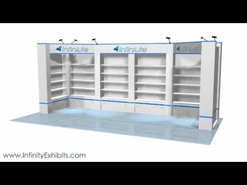 20ft Multi 6 Section Shelf Trade Show Display Booth