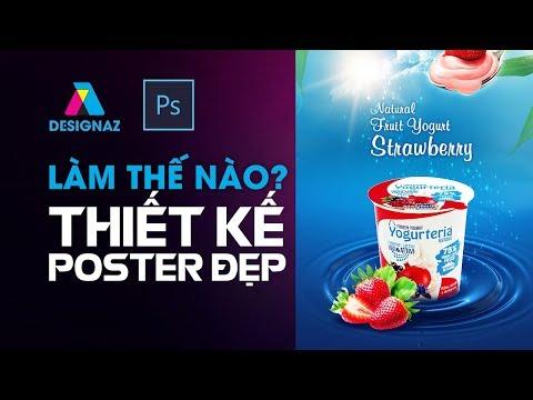 Làm thế nào để Thiết Kế Poster sữa chua đẹp?, Học thiết kế banner bằng photoshop