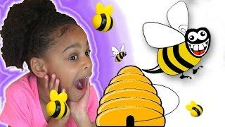Family Fun Game For Kids Honey Bee Tree Egg Surprise Toys Naiah Elli