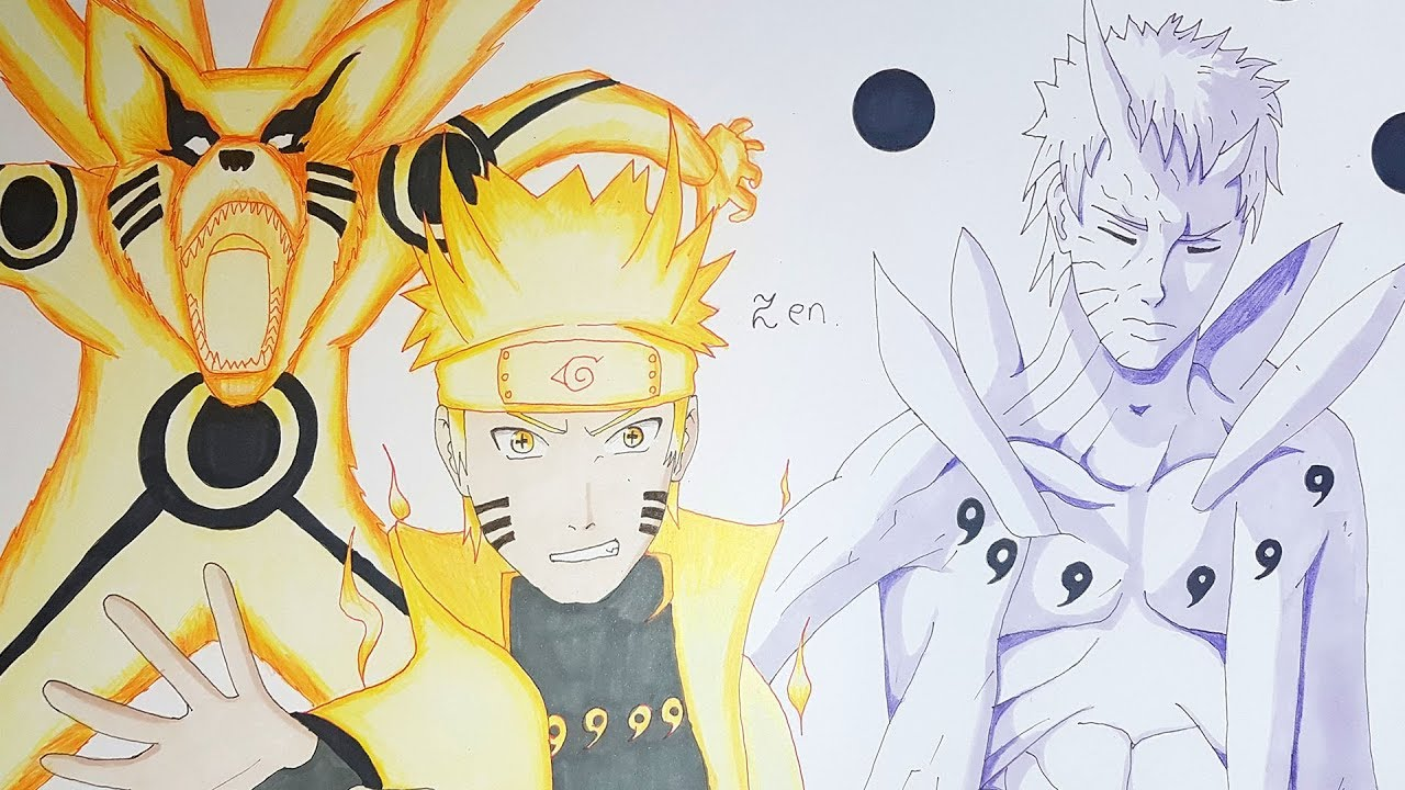 Comment Dessiner Naruto Kurama Obito Youtube