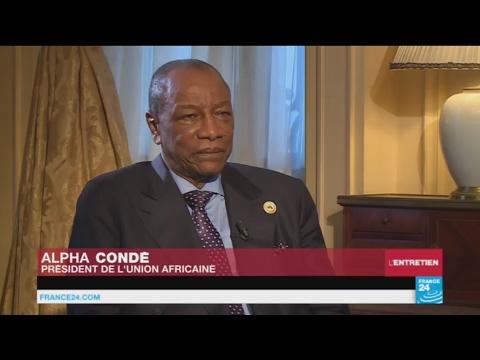 """Alpha Condé à France 24 : """"Nous ne pourrons vaincre le terrorisme par les armes"""""""