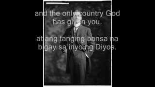 Manuel Quezon Speech - Message to my People (with Tagalog Translation)