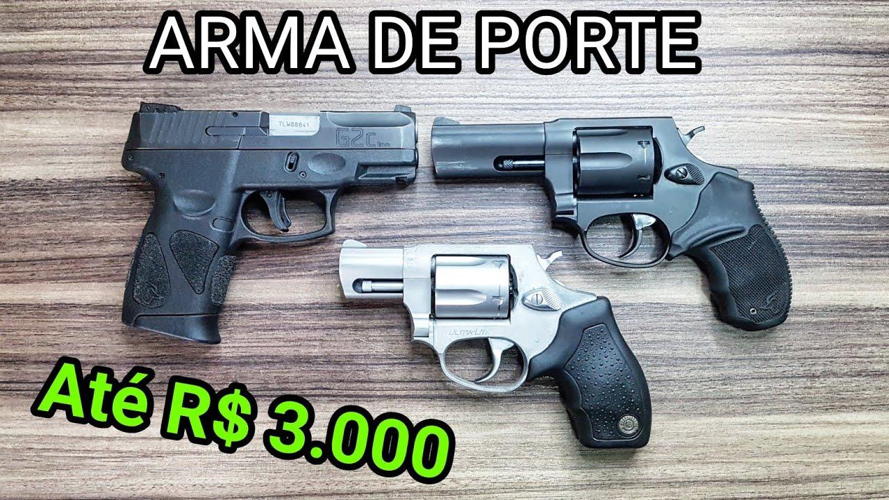 Arma de porte até 3 mil, revólver ou pistola? Taurus G2c vs RT 856 e 85s. 9mm vs 38. Qual escolher?