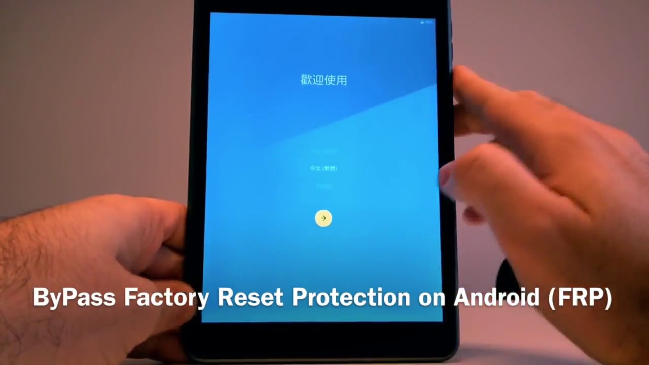How to bypass FRP /google on tablets or Android phones