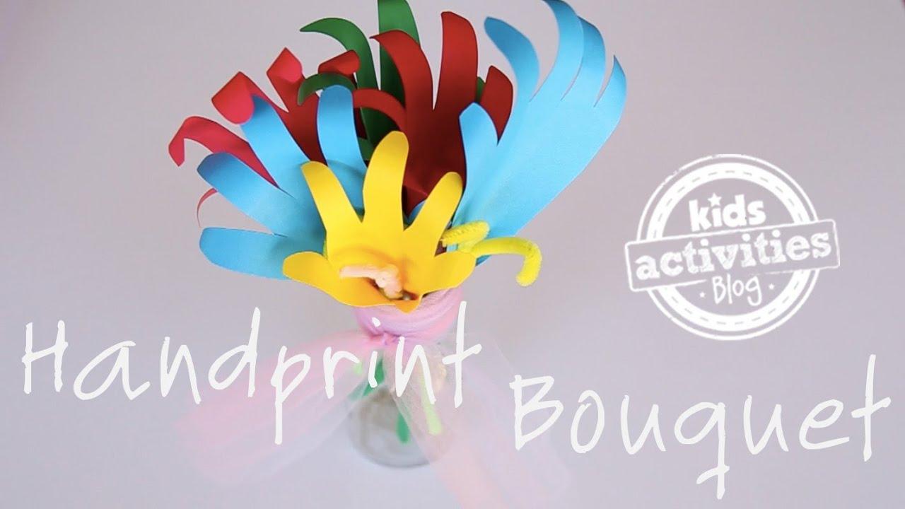 Handprint Bouquet - YouTube
