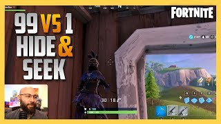 Fortnite 99 vs 1 Hide And Seek #3 - Find The Bald Man At Your Own Risk | Swiftor