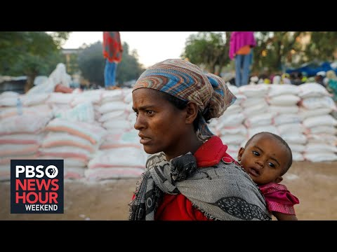 On the Ethiopian border, refugees fleeing fighting, famine make for Sudan