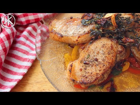 Gordon Ramsay's Pork Chops with Sweet and Sour Peppers | Keto Recipe | Headbanger's Kitchen