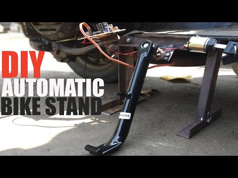 Automatic Bike Key Detection Motor Bike Stand System Mechanical Project