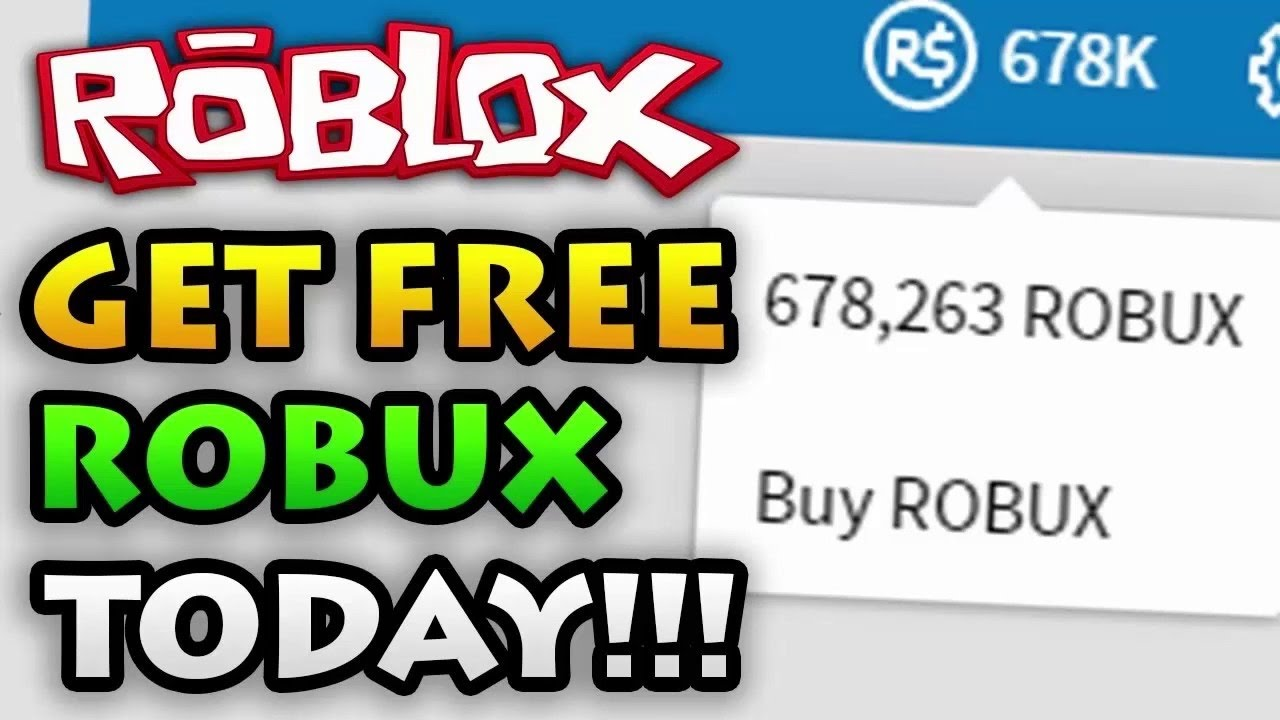 ROBLOX How to get FREE Robux on roblox WORKING AND EASY ...