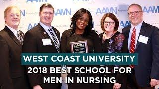 2018 BEST SCHOOL FOR MEN IN NURSING: West Coast University Receives Award from AAMN