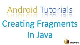 #6 Adding Fragments in Java Part 1: Android Tutorial For Beginners [HD 1080p]