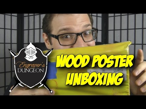 Engraver's Dungeon Wooden Poster - Blood Splattered Unboxing (Poster  Review)