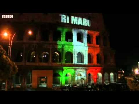 Colosseum lights off in Rome in protest at Marines murder case
