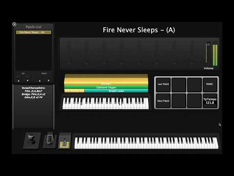 Fire Never Sleeps (Jesus Culture/Martin Smith)- Keys/Synth MainStage Patch Cover
