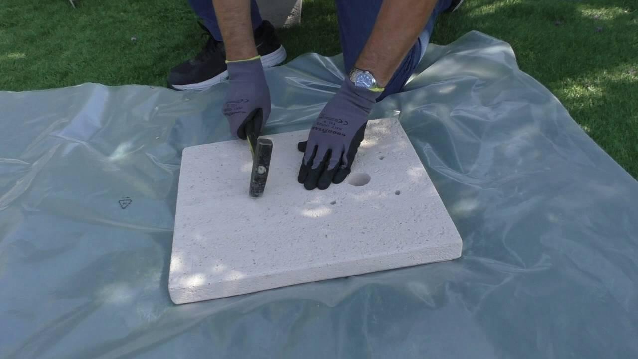 Come Costruire Una Fontana In Cemento.Montare Una Fontana In Giardino Youtube