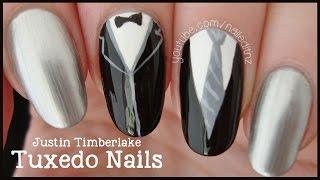 Justin Timberlake - Suit & Tie | Tuxedo Nails