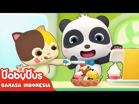 Bayi Panda Lucu Kiki & Miumiu Menjual Es Krim Lezat   Lagu Anak-anak   Bahasa Indonesia   BabyBus