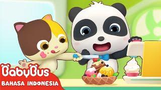 Bayi panda Lucu Kiki & Miumiu Menjual Es Krim Lezat | Lagu Anak-anak | Bahasa Indonesia | BabyBus