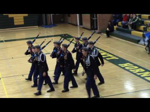 """Pueblo County High School 2016 Drill Meet """"A Team"""" Regulation Drill with Arms"""