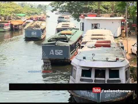 Water level drops in Alappuzha lake   ആലപ്പുഴ കായലുകളിലെ ജലനിരപ്പ് താഴുന്നു