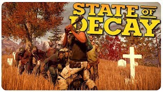 ZOMBIE HORDE @ Cleo Signal + Cemetery Rescue!   State of Decay Gameplay #5 (Mods)