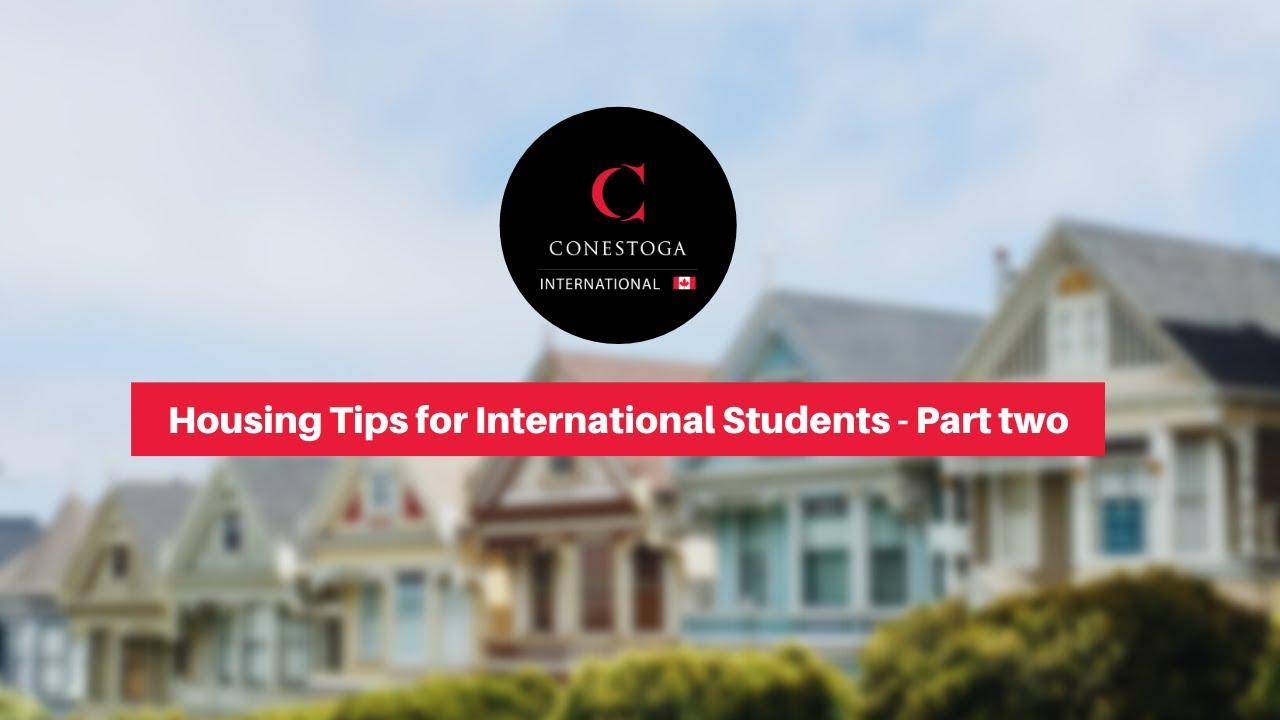 Housing   International   Conestoga College