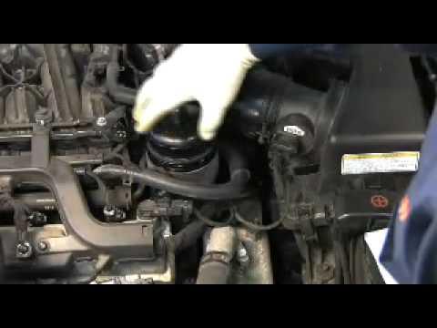 FRAM Cartridge Oil Filter change on HyundaiKia V6  YouTube