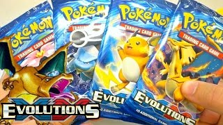 pokemon cards xy evolutions prerelease booster pack opening base set reprint goodness