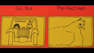 3 Year Old Reading Bob Books Advancing Beginners & Word Families #3 Go, Bus & #4 The Red Hen