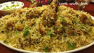 Hyderabadi Chicken Dum Biryani | Restaurant Style Eid Special Biryani At Home By Cook with Fem