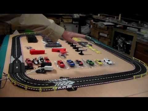 Artin and Revell 1/43 slot car set up and running