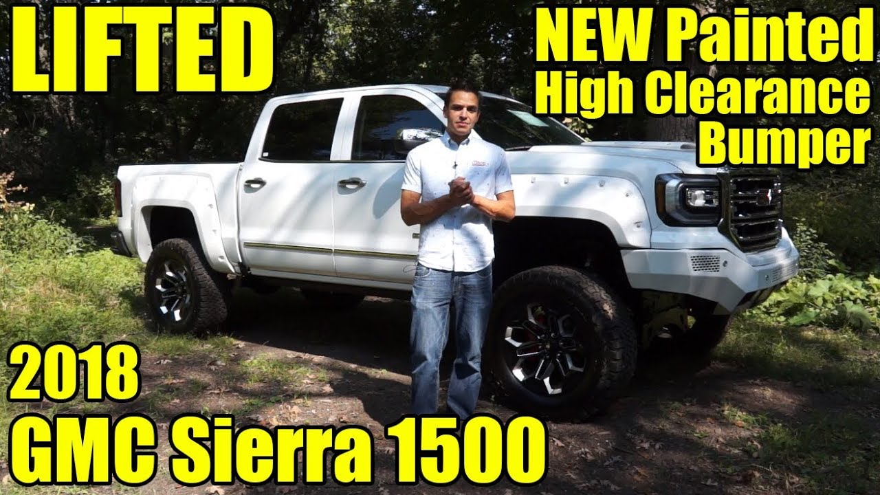 LIFTED 2018 GMC Sierra 1500! NEW Body-Color Painted High ...