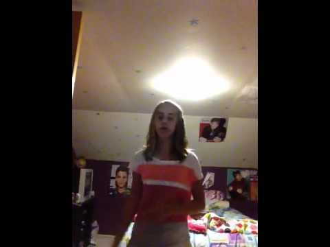 Natalee French singing never say never by Justin bieber