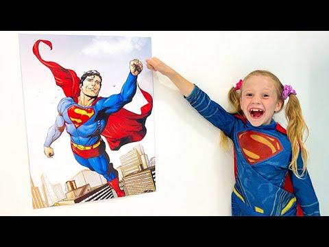 Download Nastya and a kids song about a Superhero. Songs for Kids