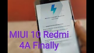 Redmi 4A MIUI 10(10.1.1.0) Global stable Rom Rollout Start
