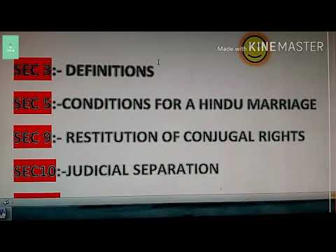 Important sections of Hindu Marriage Act for judicial exam...))