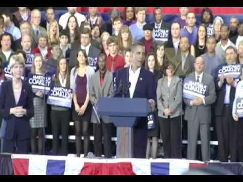 President Barack Obama Campaigns for Martha Coakley (1-17-10)