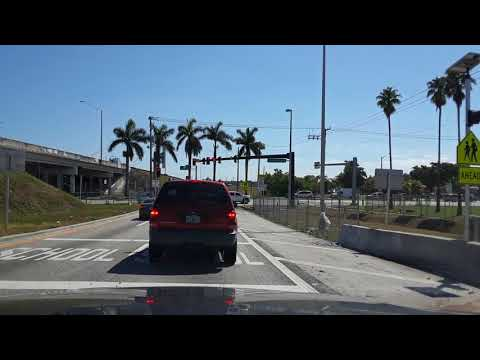 Miami, Florida. Driving from Plantation, FL to Pembroke Pines, FL