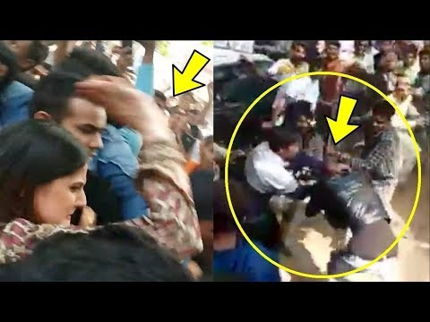 Zareen Khan Slaps A Man Who Tried To Touch Her In Public At Store Launch In Aurangabad Mp3