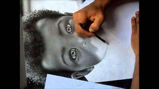 Desenho Realista Pablo de Jesus  Bebê Negro