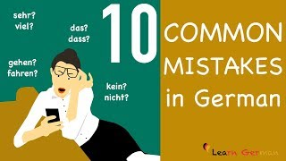 10 Common Mistakes made by German learners | 10 häufige Fehler | Learn German