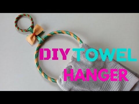 DIY Towel Hanger   Recycling Tissue Bags
