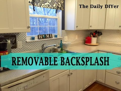 Removable Kitchen Backsplash Youtube