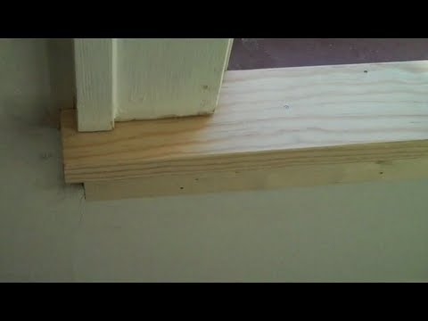 Replacing a window stool and apron (interior sil) - YouTube