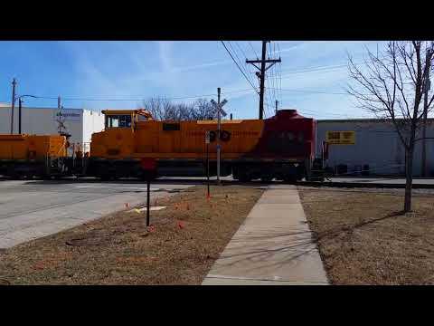 Short CRANDIC train on foot 3/15/18