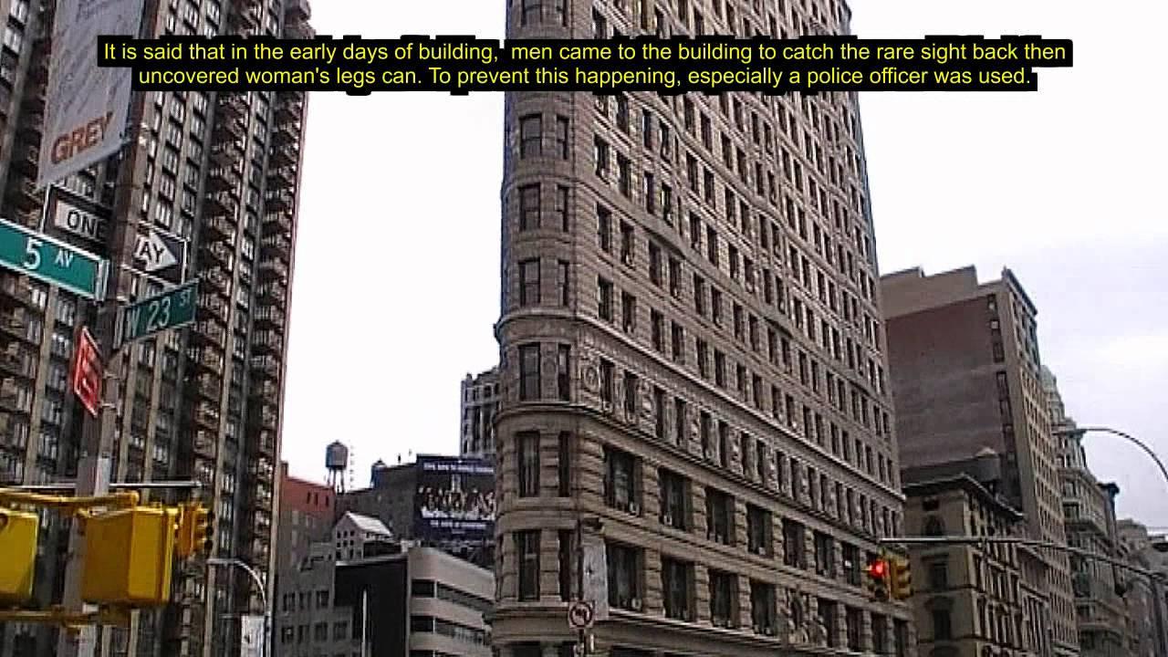 New York Am Bügeleisengebäude Fliegen Die Röcke Flying Skirts At