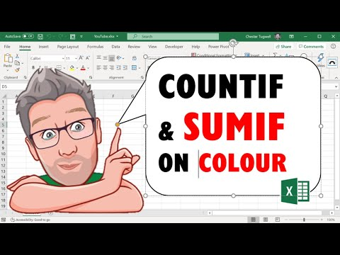 Excel COUNTIF & SUMIF On Colour - No VBA Required