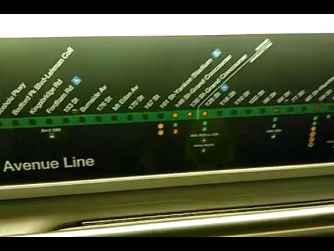 4 Train Map A perfect example of an R142 (4) train strip map and LED exterior