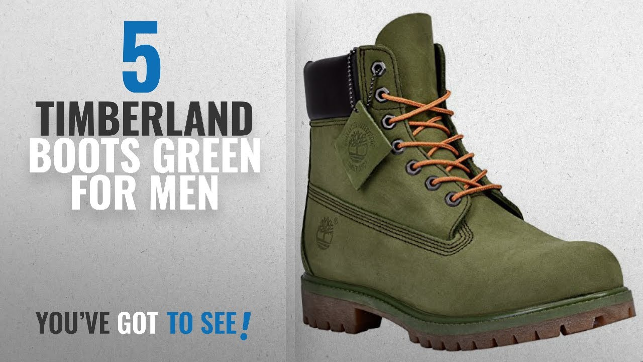 Suitable Timberland 6 Inch Premium Waterproof Boots (Green